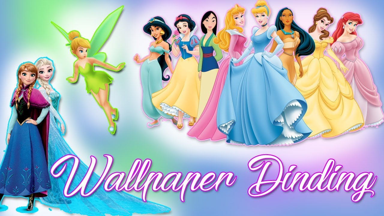 WALLPAPER DINDING FROZEN PRINCESS TINKERBELL