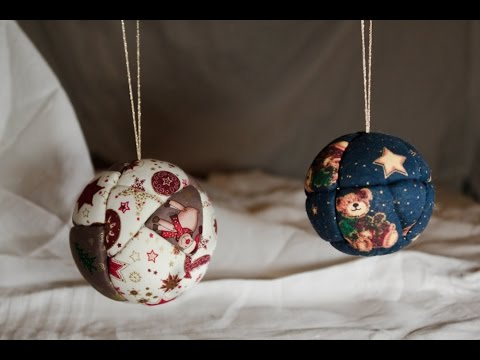 No l boules de no l effet patchwork diy youtube - Decoration boule polystyrene pour noel ...