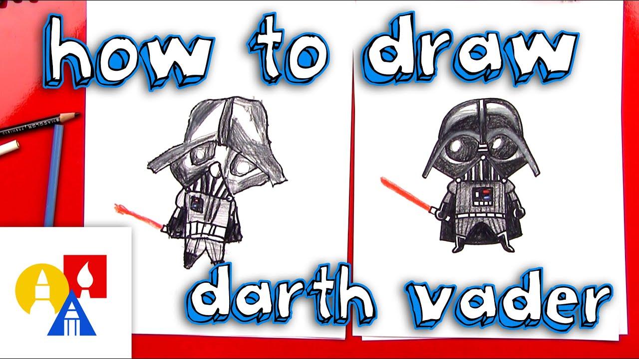 How To Draw A Cartoon Darth Vader - YouTube