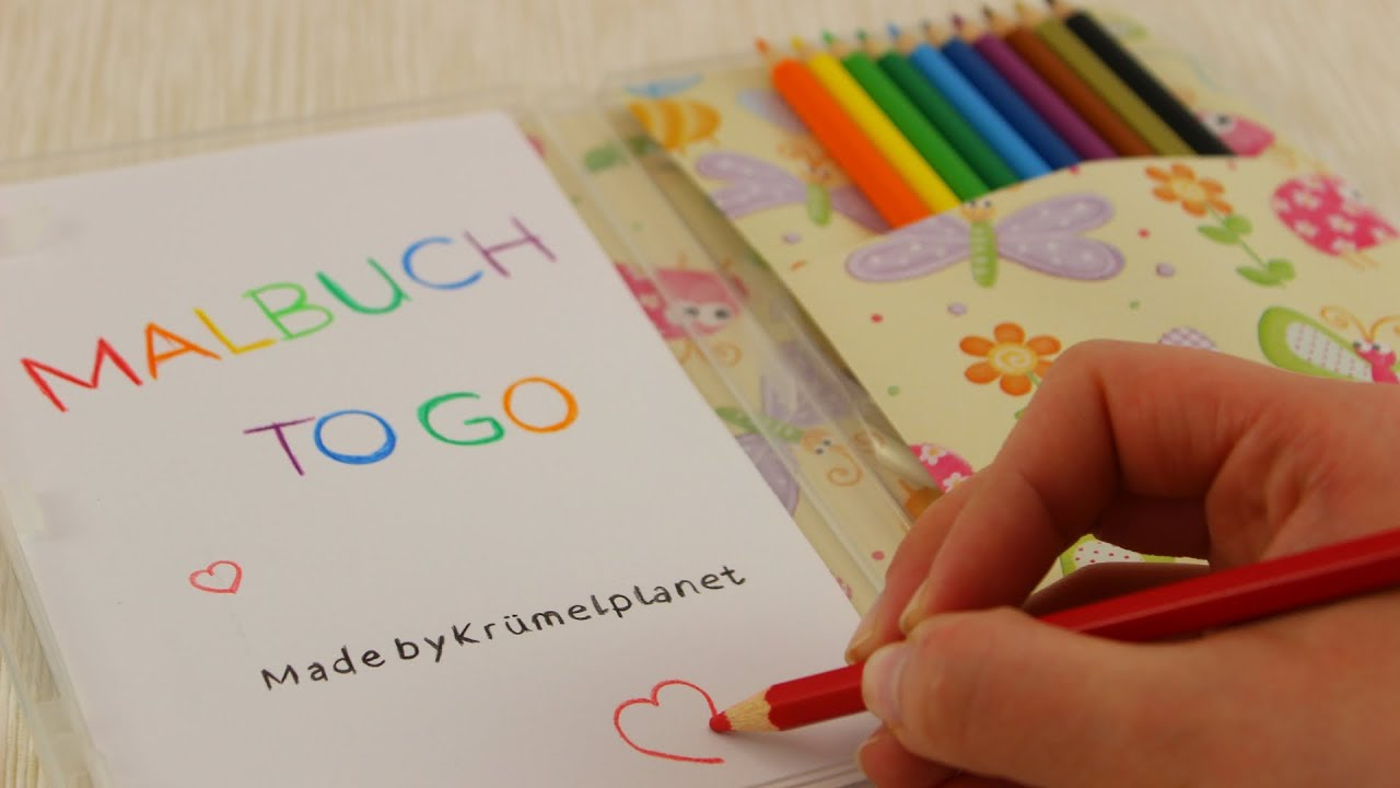 Malbuch to Go | Malbuch aus leerer DVD-Hülle für Reisen, lange ...