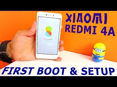 Xiaomi Redmi 4A First Boot up & Setup