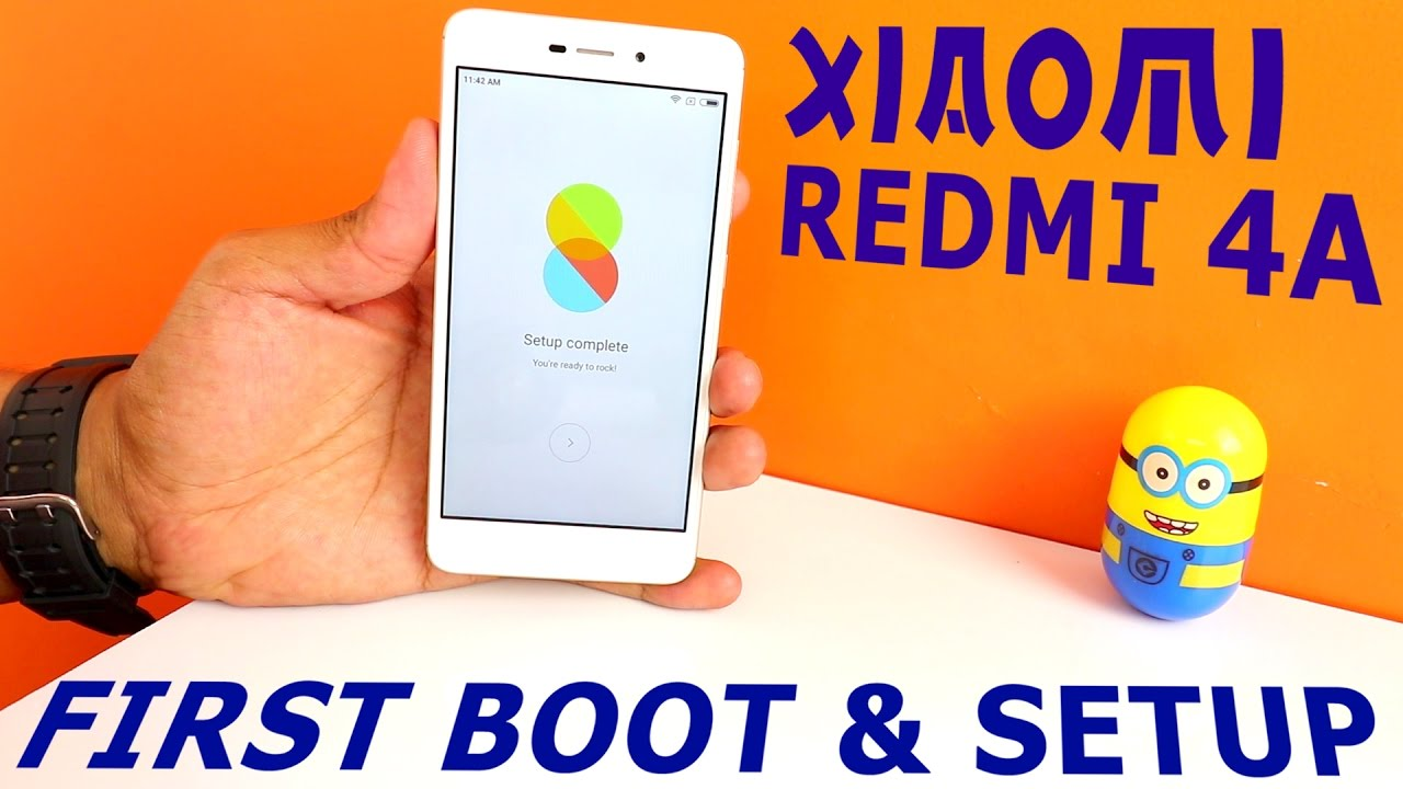 Harga Dan Spesifikasi Xiaomi Redmi 4a First Boot Up Setup Youtube