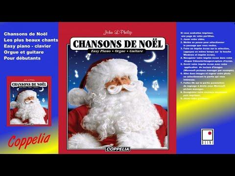 Chansons de Noël partitions pour débutants - pour piano, clavier, orgue et guitare