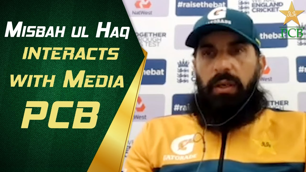 Misbah-ul-Haq interacts with media | PCB