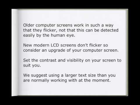 Northampton Opticians & Computer Screens Advice
