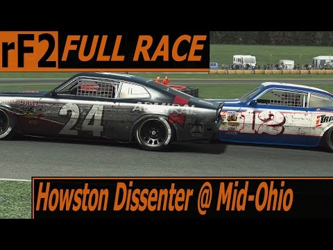 Never a dull moment - Howston Dissenter 1974 @ Mid-Ohio - rFactor 2 AI full race