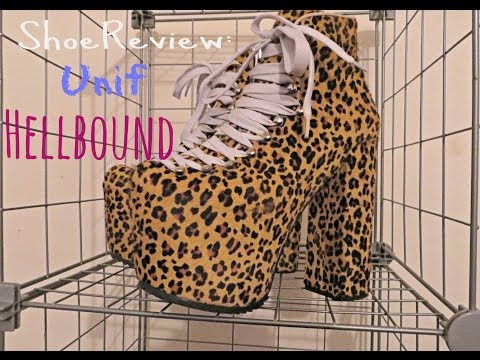 b8cb6a63211 Shoe Review  Unif Hellbound Platform Shoes - YouTube