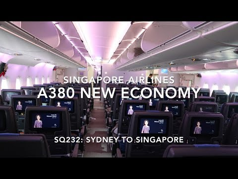 SINGAPORE AIRLINES A380 NEW ECONOMY onboard Sydney to Singapore + SUITES and BUSINESS Class preview