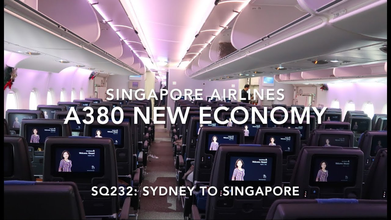 Singapore Airlines A380 New Economy Onboard Sydney To