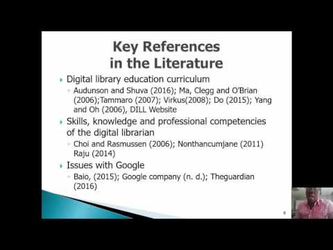 Core curriculum for digital library education