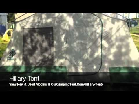 Hillary Tent Dome and Canvas 3 Room Cabin C&ing Tents & Hillary Tent Dome and Canvas 3 Room Cabin Camping Tents - YouTube