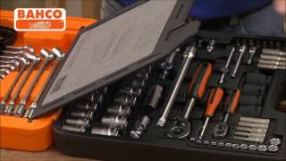 Bahco 94 Piece Mixed 1 4 and 1 2 Inch Drive Metric Socket and Spanner Set