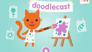 Sago Mini Doodlecast Part 1 - Best iPad app demo for kids - Ellie
