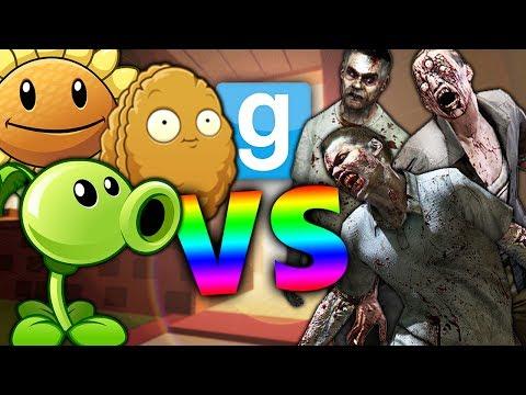 PLANTS vs ZOMBIES?! | Gmod Sandbox Fun