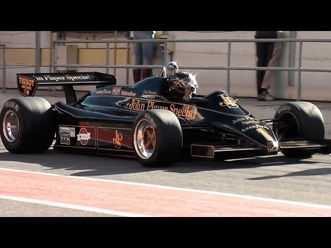 F1 Engine Sound -  Historic Formula 1 Lotus 91 with pure sound