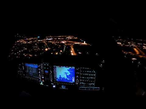 Diamond Aircraft DA62 - Cockpit Night Landing Reykjavik [2K]