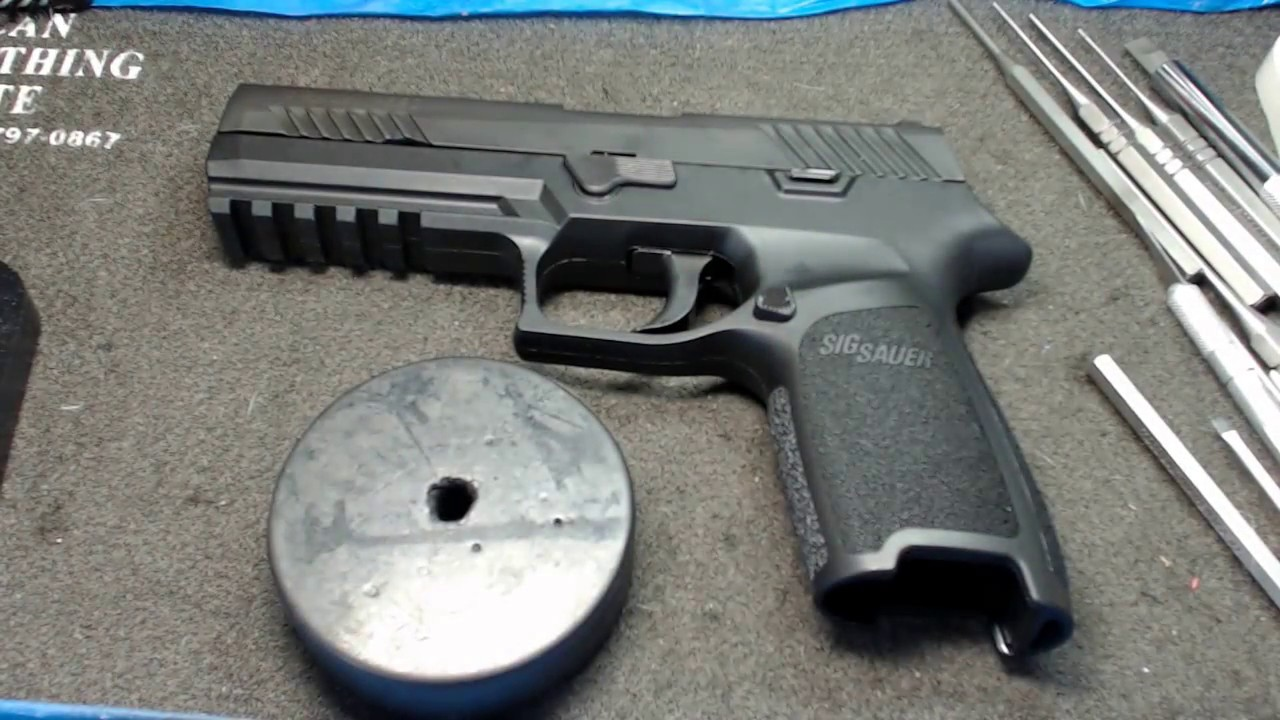 Sig Sauer P320 Complete disassembly and reassembly