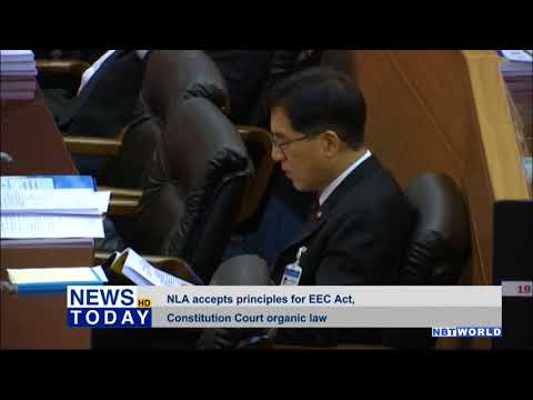 NLA accepts principles for EEC Act, Constitution Court organic law
