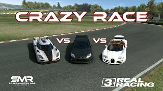 Real Racing 3 - Ford Focus vs Bugatti Veyron vs Koenigsegg Agera
