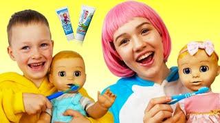 Cepillarse los dientes   Canciones Infantiles con Alex y Nasya