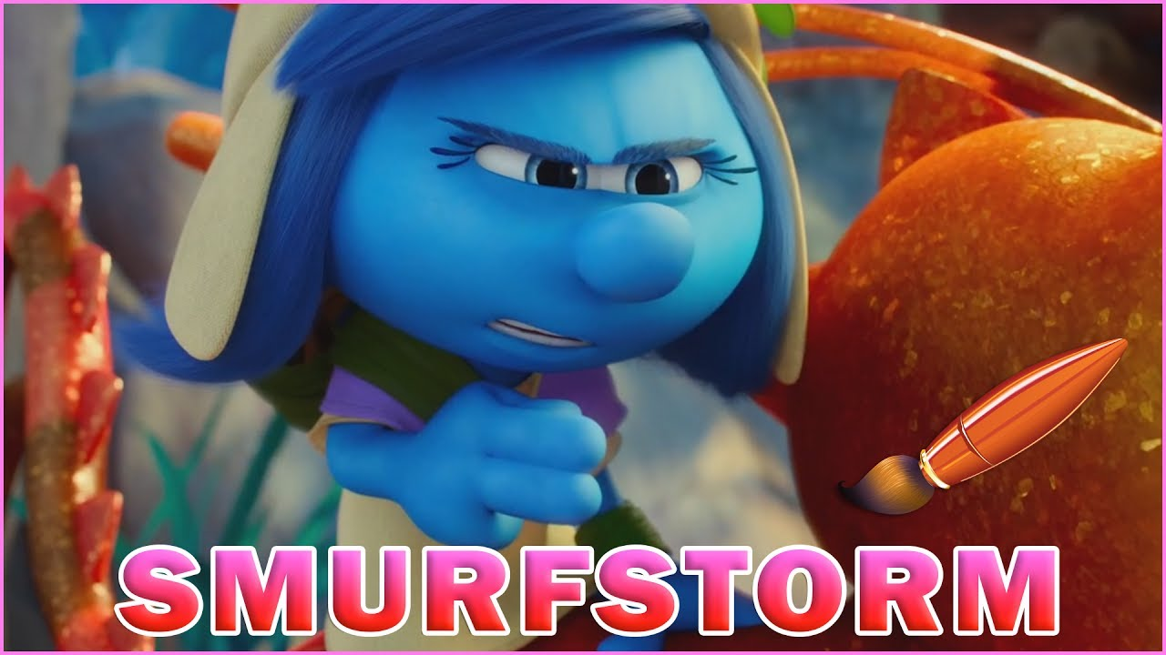 smurfstorm riding her dragonfly kids coloring book coloring