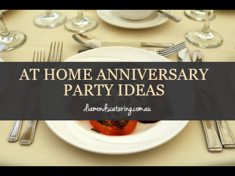At home anniversary party ideas youtube for Anniversary decorations at home