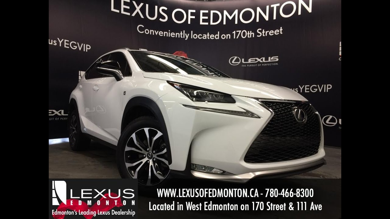 executive demo 2016 lexus nx 200t awd f sport series 1 review edmonton alberta youtube. Black Bedroom Furniture Sets. Home Design Ideas