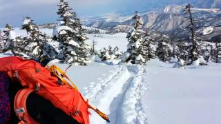 Backcountry Breaking Trail Japan Alps Ski Mountain