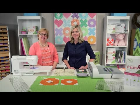 Make A Hugs Kisses Baby Quilt With The GO Qube Part 1