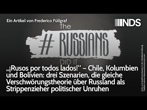 """""""¡Rusos por todos lados!"""", Verschwörungstheorie über Russland als Strippenzieher politischer Unruhen"""