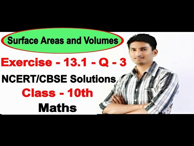 Chapter 13 Exercise 13.1 Q 3 - Surface Areas and Volumes class 10 maths - NCERT Solutions