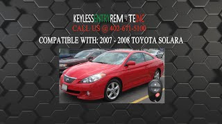 how to replace toyota solara key fob battery 2007 2008