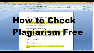How to Check Plagiarism Online Free || Free plagiarism Checker Online | plagiarism checker