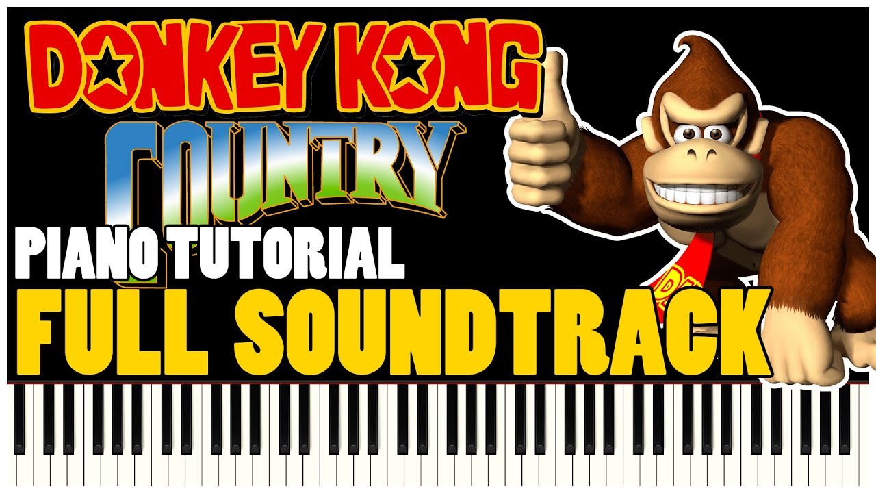 Donkey Kong Country Full Soundtrack (Piano Tutorial Synthesia) | Special #02
