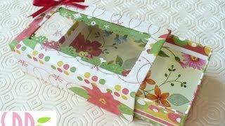 Scrapbooking Tutorial: Scatolina Natalizia Porta Tag - Christmas Tags Box Holder