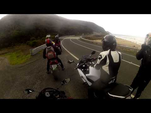 First time riding on Great Ocean Road