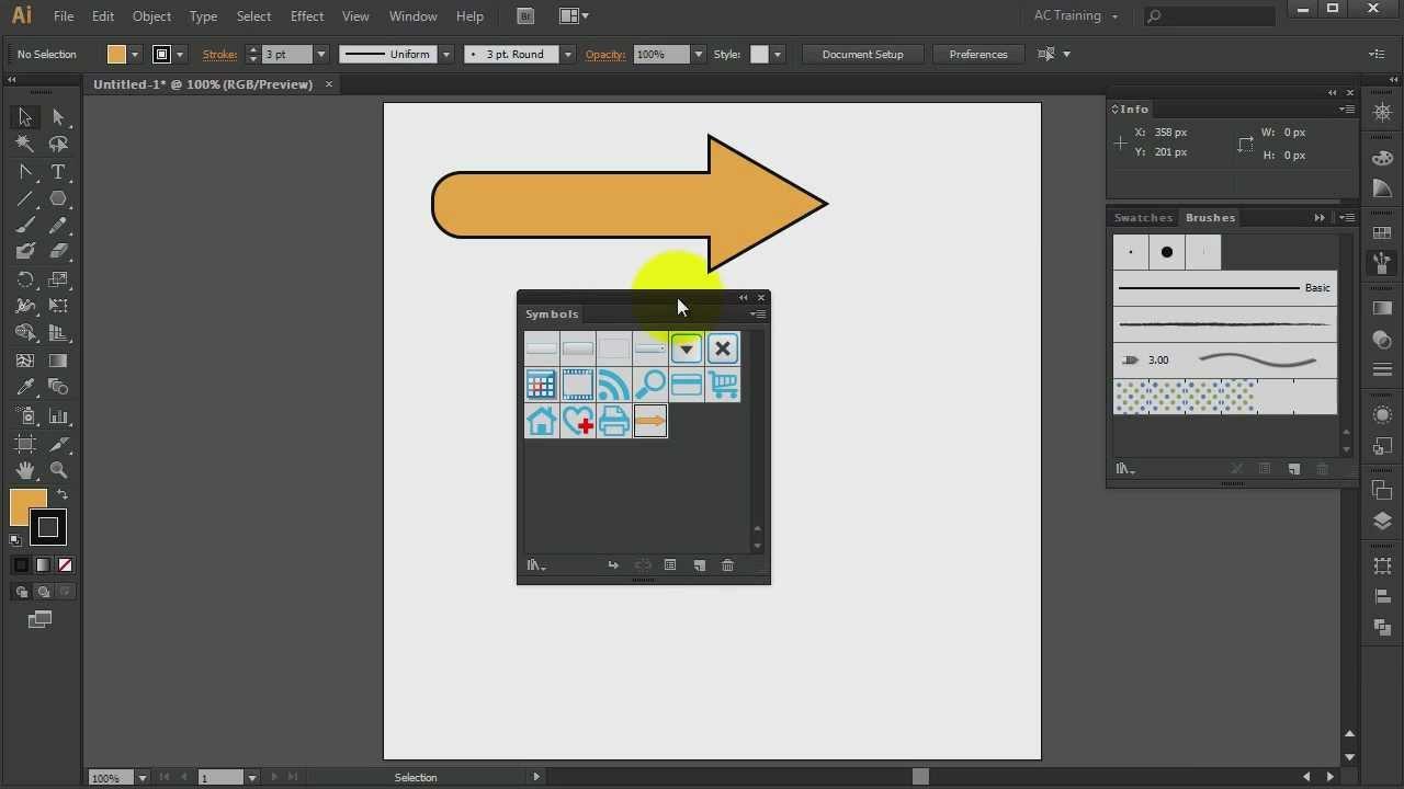 Adobe Illustrator Cs6 Arrow Symbol Construction Youtube