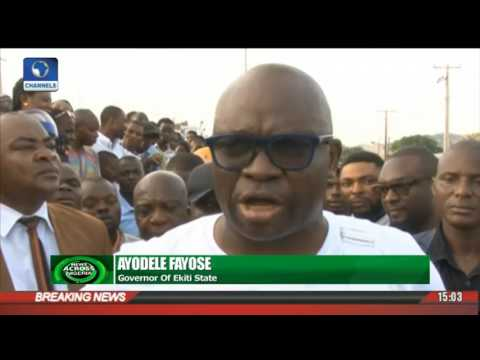 News Across Nigeria: Ekiti Government Demolishes Petrol Stations Over Safety Issues