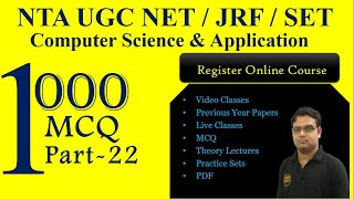 NTA NET Computer Science CSE June 2019 - How to Prepare for CSE NTA UGC NET JRF | Part 22