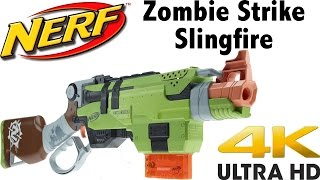nerf zombie strike slingfire unboxing and review