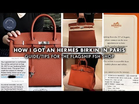 Guide/Tips: How I got my Hermès Birkin at the Paris flagship Faubourg Saint-Honorè (September 2017)