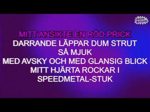 Sista Bossen - Glass med pistage (Karaoke) (Official Music Video)