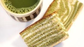 Green Tea Castella (kasutera) Marble Or Zebra Japanese Sponge Cake Recipe 카스테라 만들기 カステラ