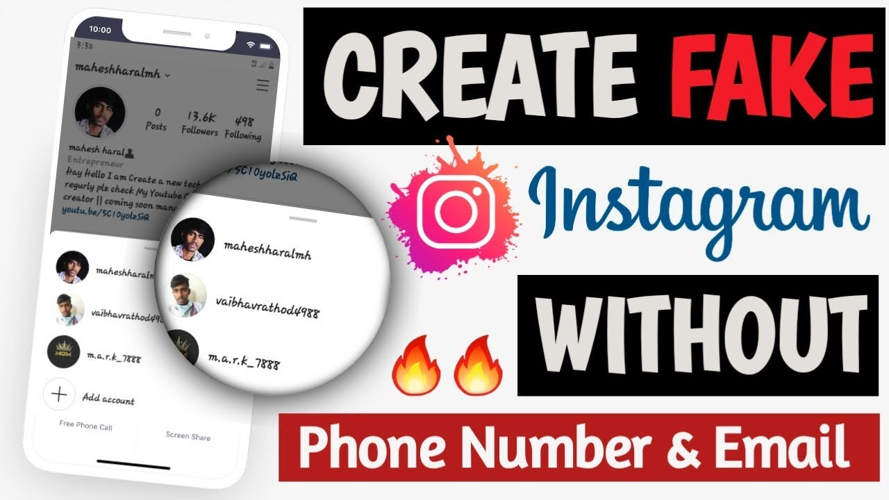 How to Create Instagram FAKE account without Phone number