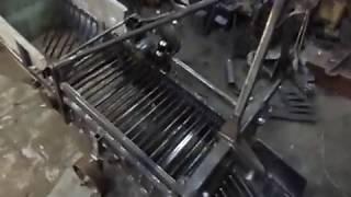 Обзор самодельной транспортерной картофелекопалки перед покраской