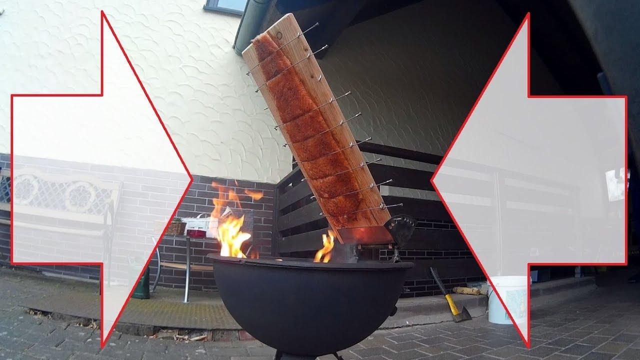 2 x Holz-Flammlachsbretter mit Halterung Flammlachsbrett Fisch-Brett je 45x15cm