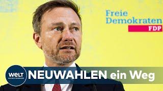 """WELT DOKUMENT: Lindner - """"Die FDP verhandelt und kooperiert mit der AfD nicht"""""""