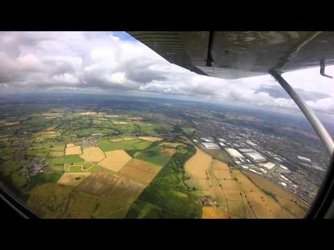 Darley Moor to Enstone to Dunkeswell (Flying a nice Cessna 172) best in 1080HD