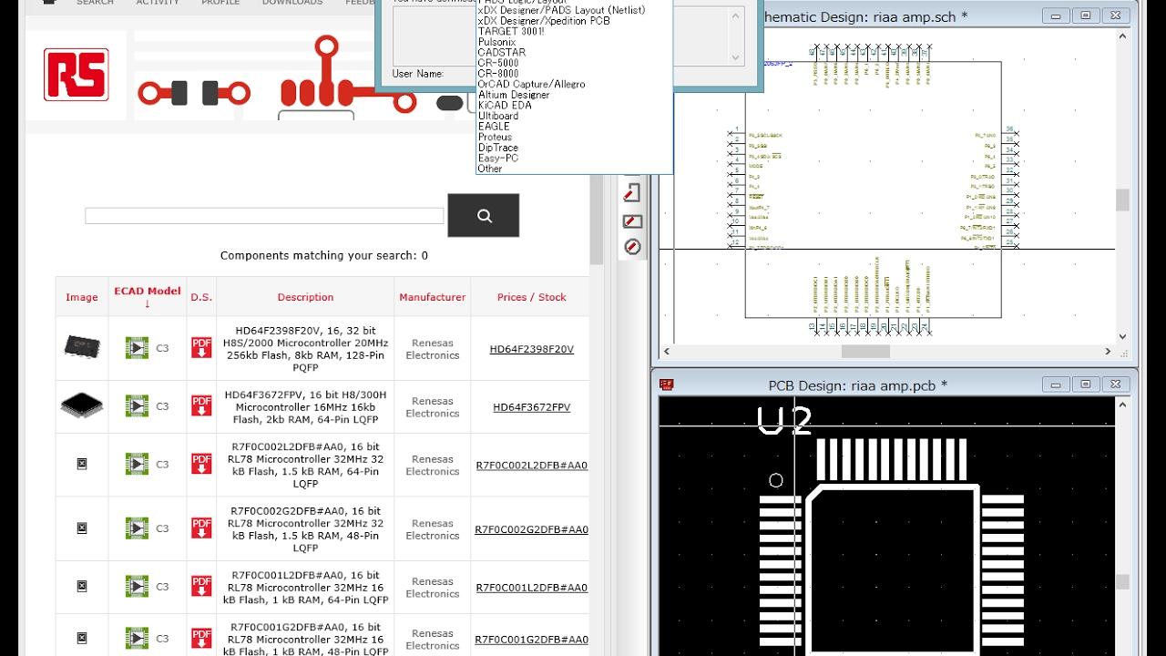 PCB Part Library 使い方 (KiCad編)