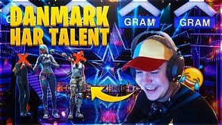 DANMARK HAR TALENT I FORTNITE?! *GRINEREN!*